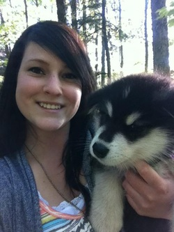 Lynsay and Maverick the Alaskan Malamute